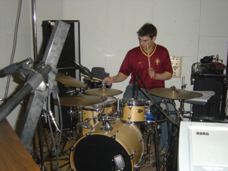 JUL ... plays the drums!